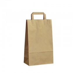 Papírové tašky hnědé s plochým uchem 220x105x360 mm