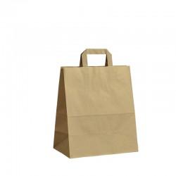 Papírové tašky hnědé s plochým uchem 260x140x300 mm