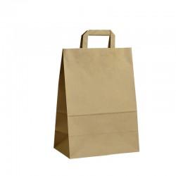 Papírové tašky hnědé s plochým uchem 260x140x360 mm