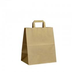 Papírové tašky hnědé s plochým uchem 260x160x300 mm