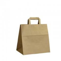 Papírové tašky hnědé s plochým uchem 280x170x270 mm