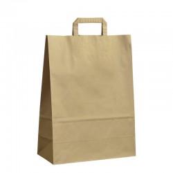 Papírové tašky hnědé s plochým uchem 320x140x420 mm