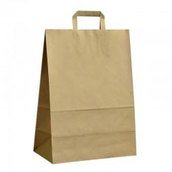 Papírové tašky hnědé s plochým uchem 320x170x440 mm