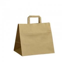 Papírové tašky hnědé s plochým uchem 320x200x280 mm