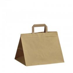 Papírové tašky hnědé s plochým uchem 320x220x240 mm