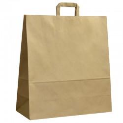 Papírové tašky hnědé s plochým uchem 450x170x480 mm