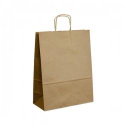 Papírová taška hnědá ExtraTWIST 26x12x34
