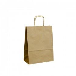 Papírové tašky hnědé s krouceným uchem 220x100x280 mm